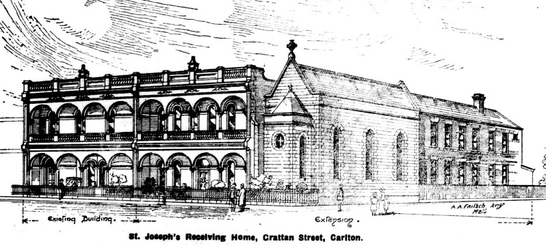 Architect's drawing of St Joseph's Receiving Home
